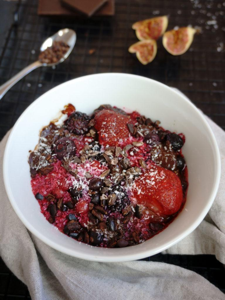 Berry Chocolate Vanilla Crumble