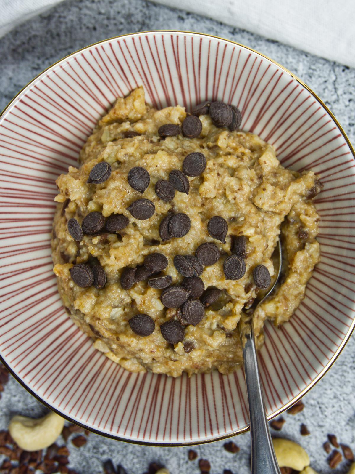Cashew Date Cookie Dough Close-Up