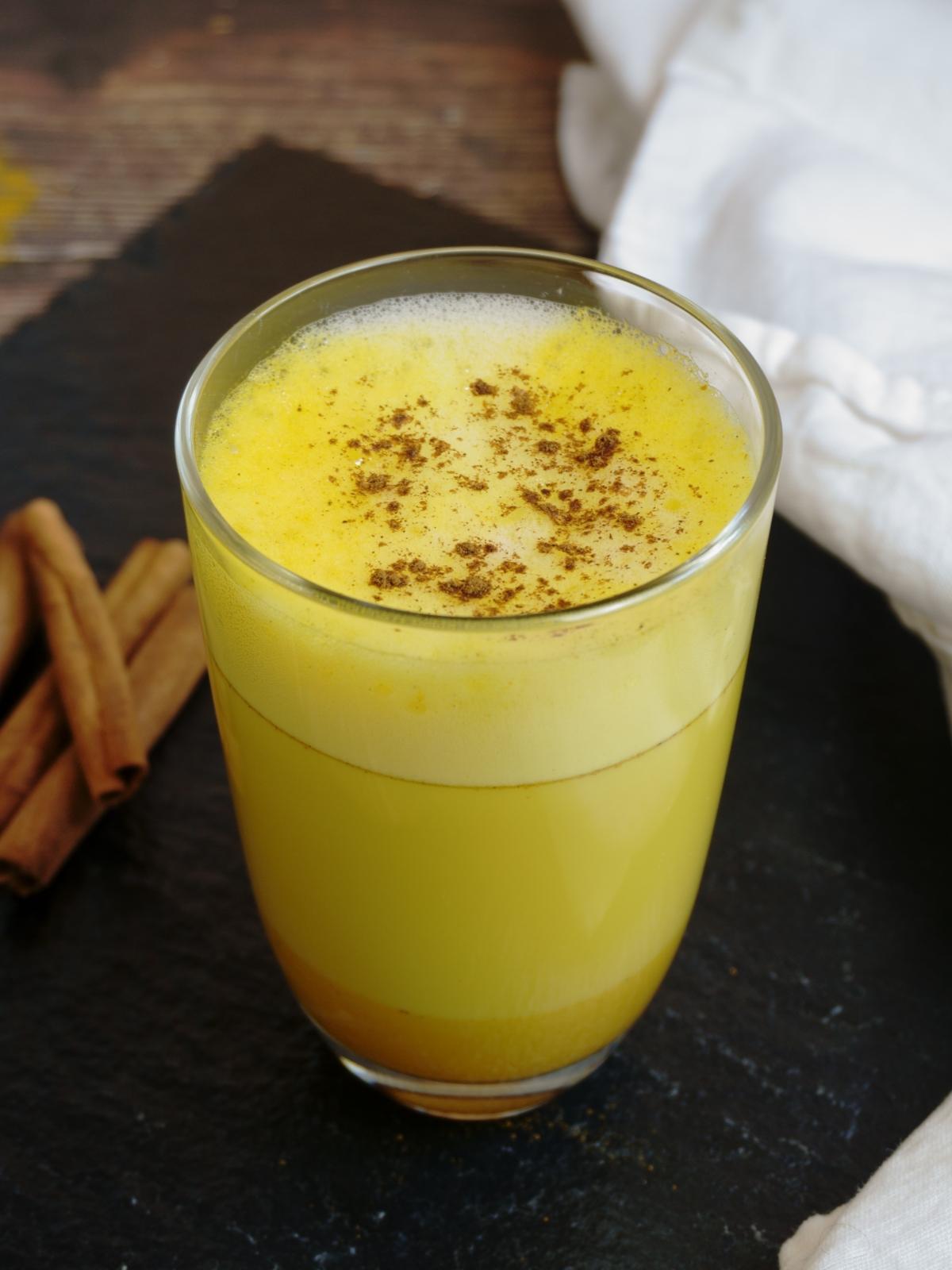 Turmeric Latte or Golden Milk Front Shot