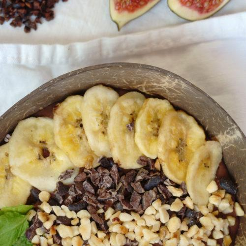 Chocolate Smoothie Bowl Close-Up