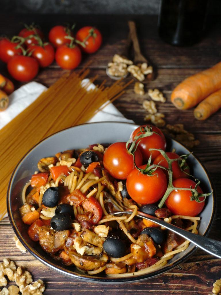 Italian Pan Roasted Vegetable Pasta