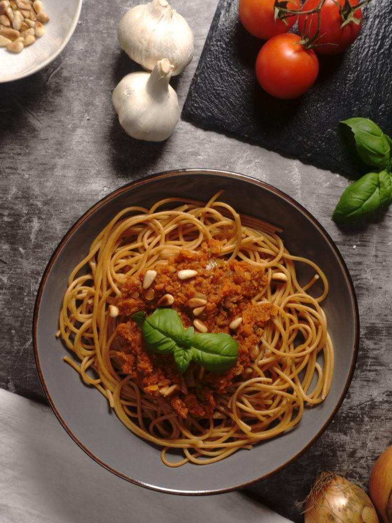 Vegan Red Lentil Bolognese Without Tofu