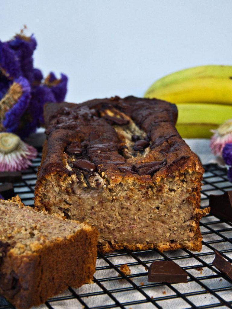 Saftiges Bananenbrot mit Schokostückchen