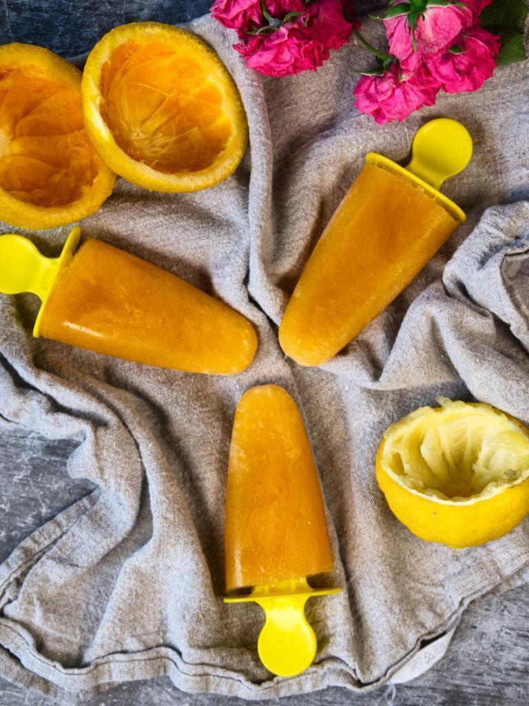 Homemade Orange Ice Pops